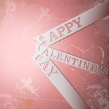 Strisce di carta felici di giorno di biglietti di S. Valentino Immagine Stock Libera da Diritti