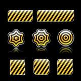 Strisce di colore giallo Immagine Stock Libera da Diritti