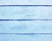 Strisce di legno dipinte blu Fotografie Stock