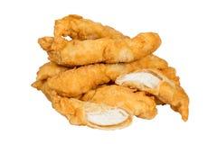 Strisce dorate del pollo Immagini Stock