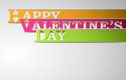 Strisce felici di giorno di biglietti di S. Valentino Immagine Stock