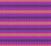 A strisce, modello senza cuciture zigzagare Linea struttura di zigzag Fondo geometrico a strisce Arancia, viola Fotografia Stock Libera da Diritti