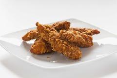Strisce saporite del pollo Immagini Stock
