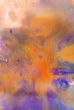 Strisce secche di pittura multicolore con le crepe Fotografie Stock Libere da Diritti