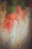 Strisce secche di pittura multicolore con le crepe Fotografia Stock Libera da Diritti