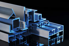 Strisce sezionali di alluminio Immagine Stock Libera da Diritti