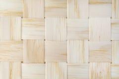 Strisce tessute di legno Fotografie Stock
