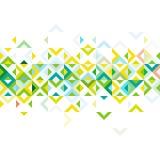 Striscia astratta di progettazione geometrica del modello della miscela variopinta del mosaico, sulla parte media Fotografia Stock
