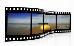 Striscia bouy della pellicola della spiaggia Fotografie Stock