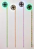 Striscia del LED con il LED rosso, verde e blu Immagine Stock Libera da Diritti