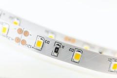 Striscia del LED con 3 moduli del chip SMD non isolati Immagini Stock Libere da Diritti