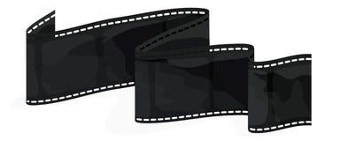 Striscia della pellicola con il percorso di residuo della potatura meccanica Immagine Stock Libera da Diritti