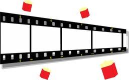 Striscia della pellicola con un sacchetto del popcorn royalty illustrazione gratis