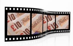 Striscia della pellicola dei soldi Immagine Stock