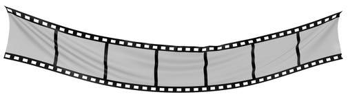 Striscia della pellicola del panno Fotografia Stock