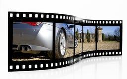 Striscia della pellicola dell'automobile sportiva fotografie stock libere da diritti