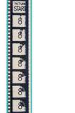 Striscia della pellicola della guida di film immagini stock libere da diritti