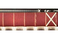 striscia della pellicola di 16mm Fotografie Stock Libere da Diritti