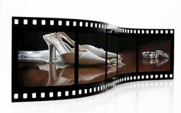 Striscia della pellicola di cerimonia nuziale fotografie stock