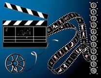 Striscia della pellicola e retro bobina Immagine Stock