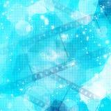 Striscia della pellicola sull'ardore blu Immagini Stock Libere da Diritti