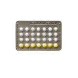 Striscia della pillola anticoncezionale fotografia stock libera da diritti