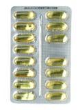 Striscia delle pillole del gel immagini stock libere da diritti