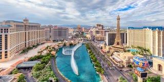 Striscia di fama mondiale di Las Vegas Fotografie Stock