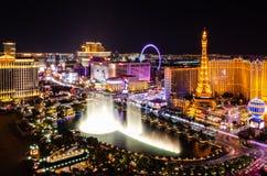 Striscia di Las Vegas alla notte fotografia stock