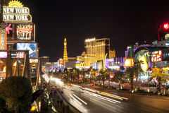 Striscia di Las Vegas alla notte Immagini Stock