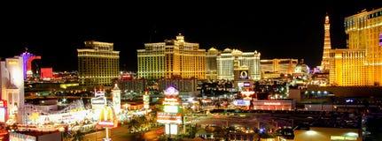Striscia di Las Vegas alla notte Il Nevada U.S.A. Fotografie Stock