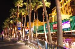 Striscia di Las Vegas di notte Immagini Stock Libere da Diritti