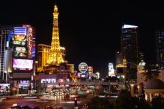 Striscia di Las Vegas entro Night Fotografia Stock