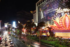 Striscia di Las Vegas entro Night Fotografia Stock Libera da Diritti