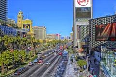 Striscia di Las Vegas Nevada immagini stock libere da diritti