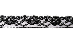 Striscia di merletto nero Fotografia Stock