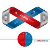 Striscia di Mobius di carta. Opzione di vettore infographic. Fotografia Stock Libera da Diritti