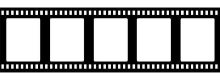 Striscia di pellicola antiquata di 35mm isolata illustrazione vettoriale
