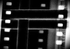 Striscia di pellicola in bianco e nero del collage di vettore della bobina di film nelle variazioni di seppia Fotografia Stock Libera da Diritti