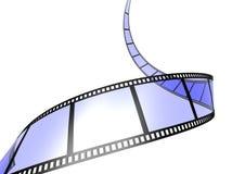 Striscia di pellicola blu Fotografia Stock
