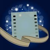 Striscia di pellicola con la pagina in bianco Immagine Stock