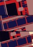 Striscia di pellicola del collage nelle variazioni del laboratorio Fotografia Stock