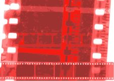 Striscia di pellicola del collage di vettore della bobina di film nelle variazioni di seppia Fotografie Stock Libere da Diritti