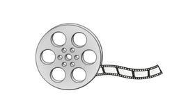 Striscia di pellicola e bobina Fotografia Stock Libera da Diritti