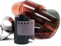 Striscia di pellicola e rotolo Fotografie Stock Libere da Diritti