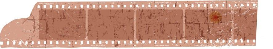 Striscia di pellicola Grungy, strutture in bianco della foto, spazio libero per le immagini, VE Immagini Stock
