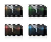 Striscia di pellicola, insieme di vettore illustrazione di stock