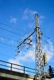 Striscia di potere e cavo elettrico Fotografia Stock