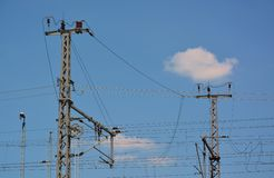 Striscia di potere e cavo elettrico Immagine Stock Libera da Diritti