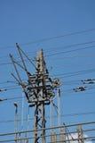 Striscia di potere e cavo elettrico Fotografie Stock